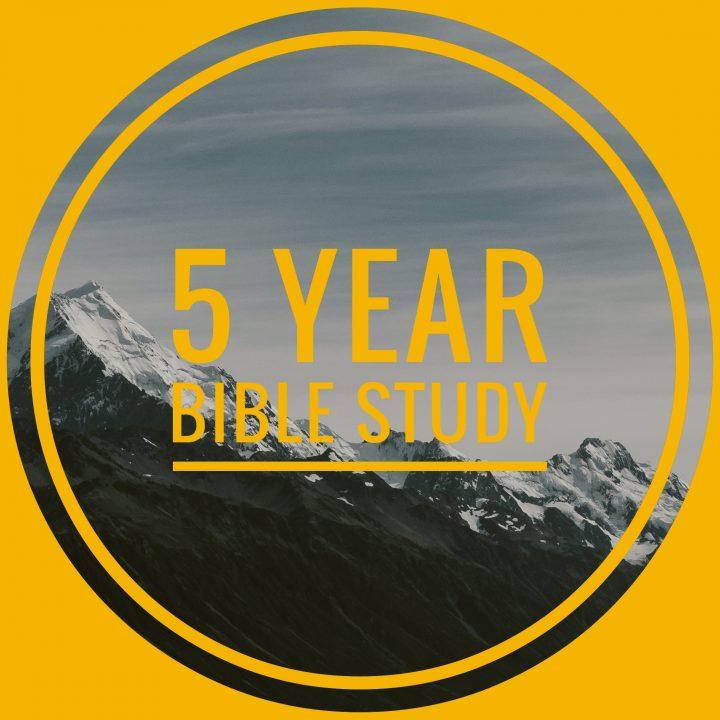 5 Year Bible Study Plan